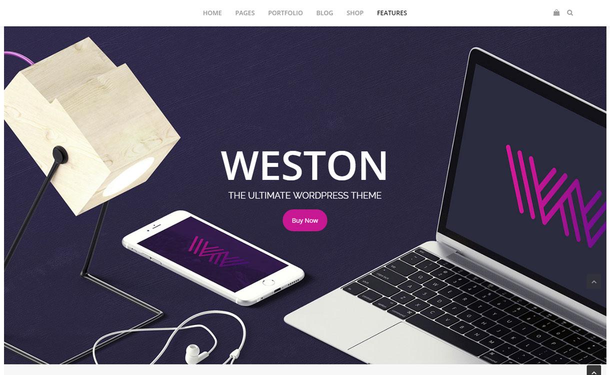 Weston - Premium Parallax WordPress Theme