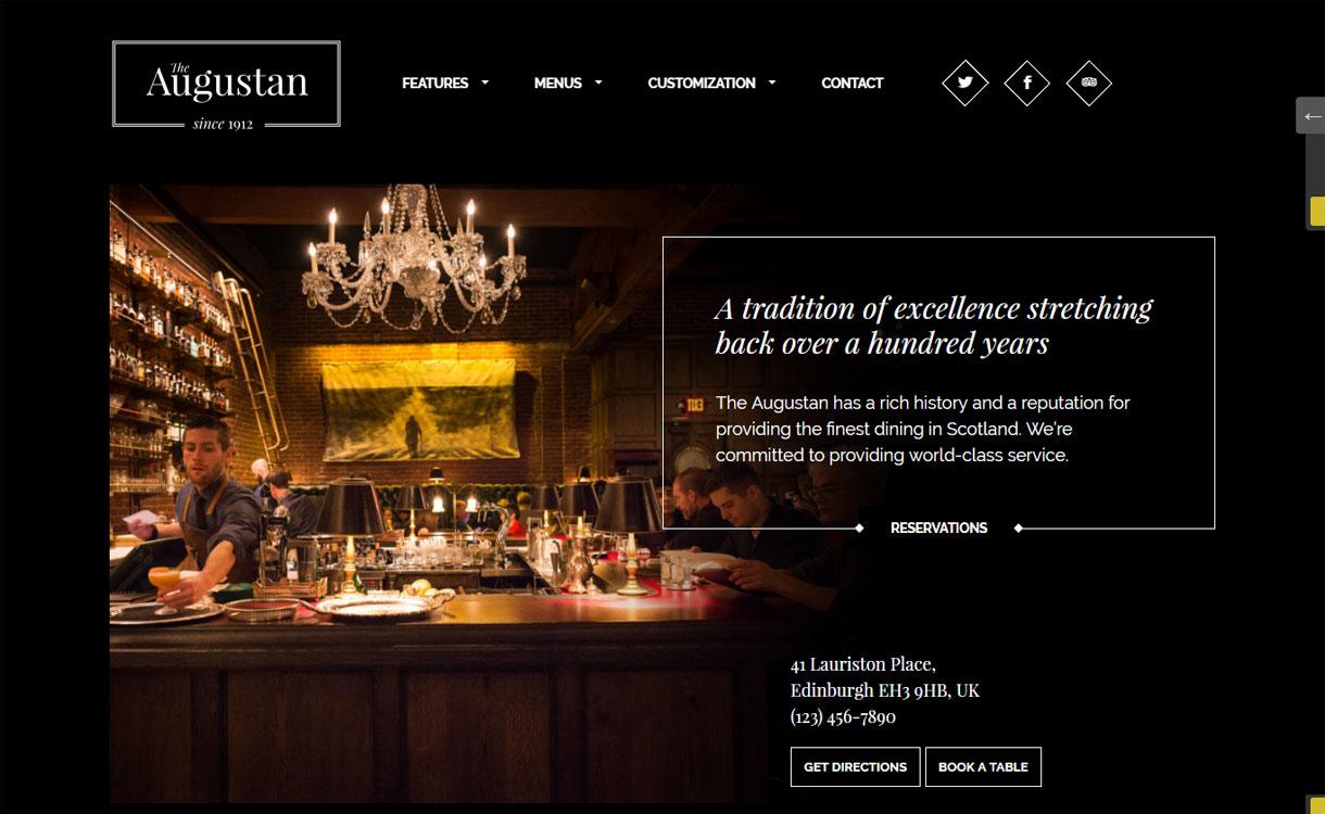 Augustan - Premium Restaurant WordPress Theme