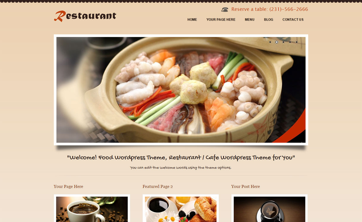 coRestaurant - Premium Restaurant WordPress Theme