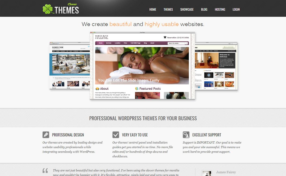 Clover Themes - Beautiful WordPress Theme Store