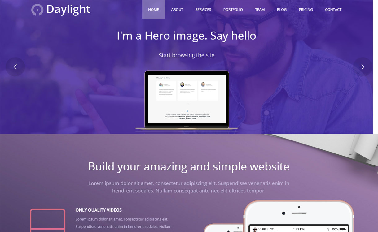 DayLight - Premium Multipurpose Business Theme