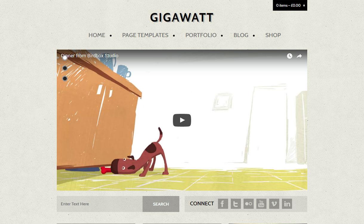 GigaWatt - 15+ Best Responsive WordPress Video Themes 2019