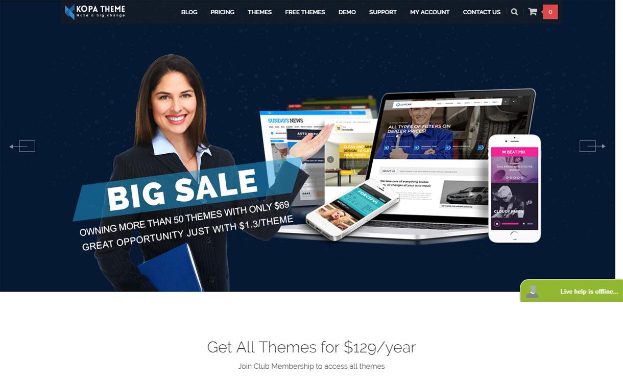 Kopa Theme - Beautiful WordPress Theme Store