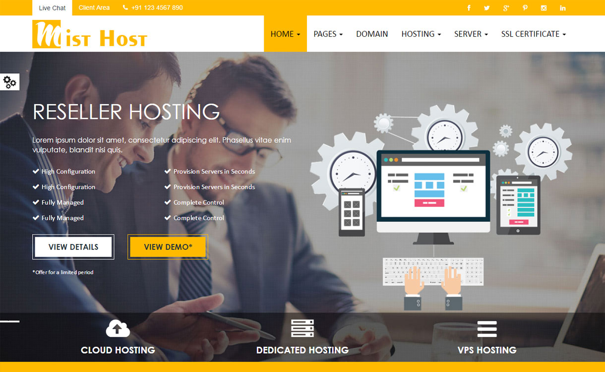 Mist Host - Premium Web Hosting Theme