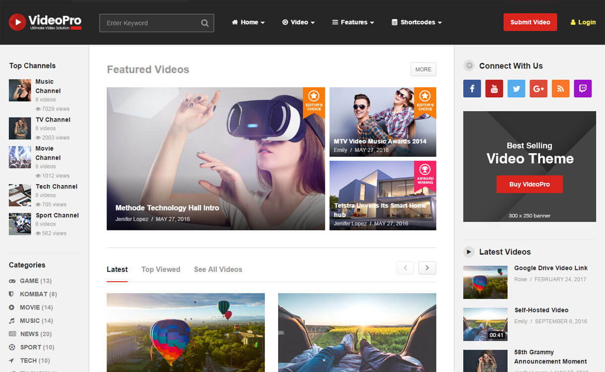 VideoPro - Best WordPress Video Theme