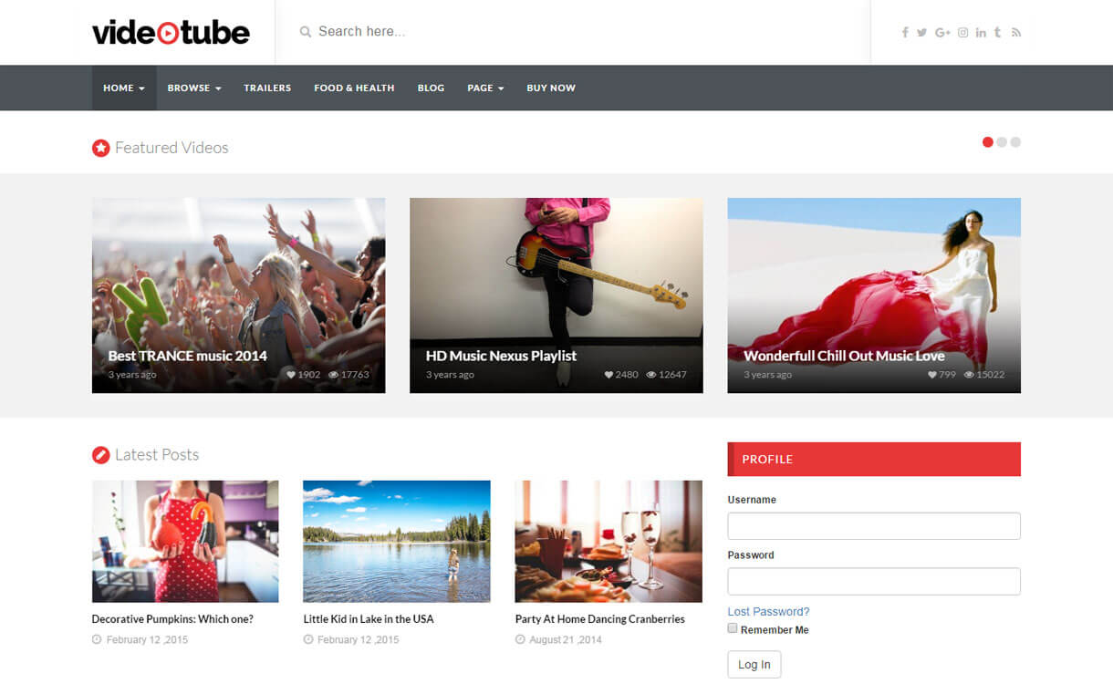 VideoTube - Best WordPress Video Theme