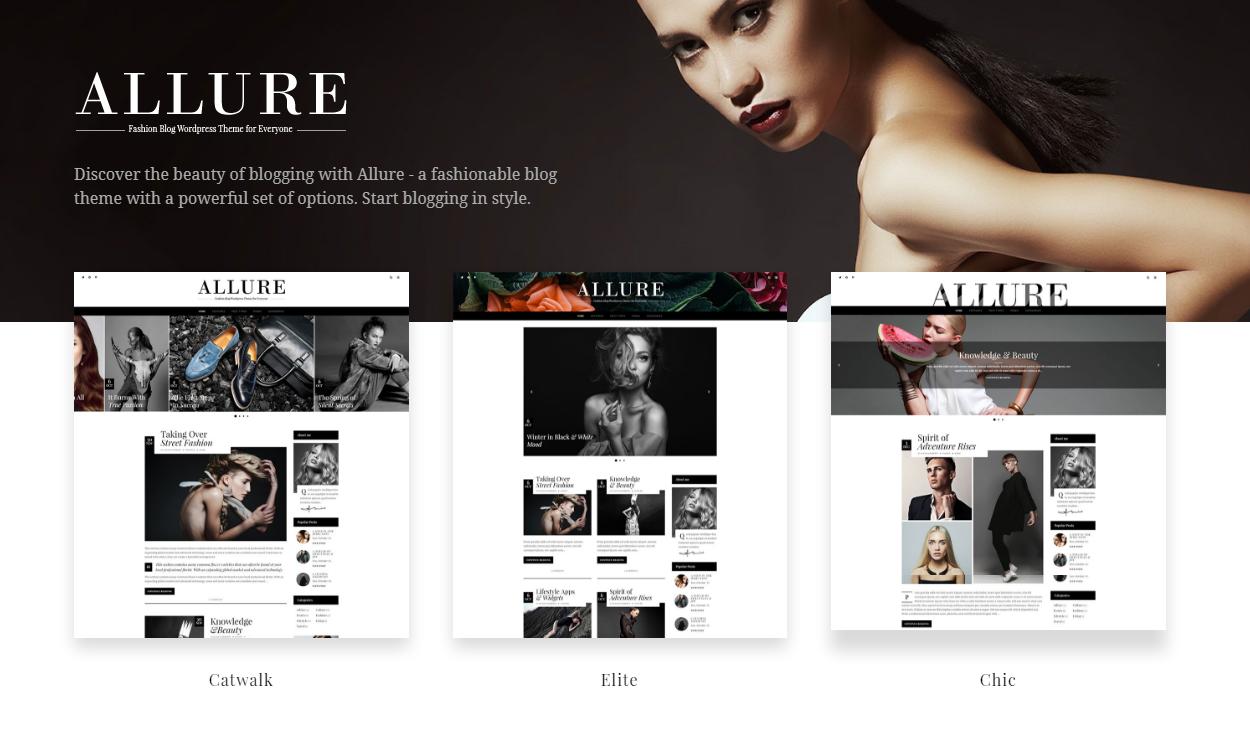 allure - 30+ Best Premium WordPress Blog Themes 2020