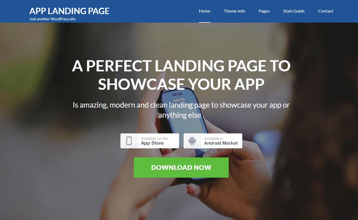 app landing page free wordpress landing page theme - 30+ Best Free WordPress Landing Page Themes and Templates 2019