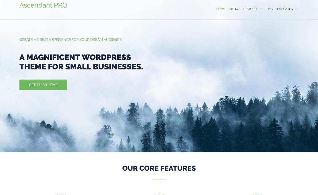 ascendant free wordpress landing page theme - 30+ Best Free WordPress Landing Page Themes and Templates 2019