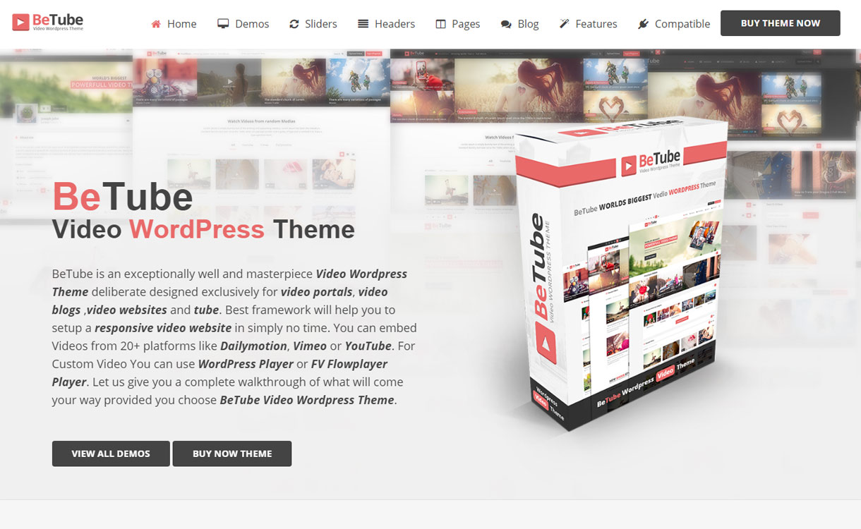 betube best video wordpress theme - 15+ Best Responsive WordPress Video Themes 2019