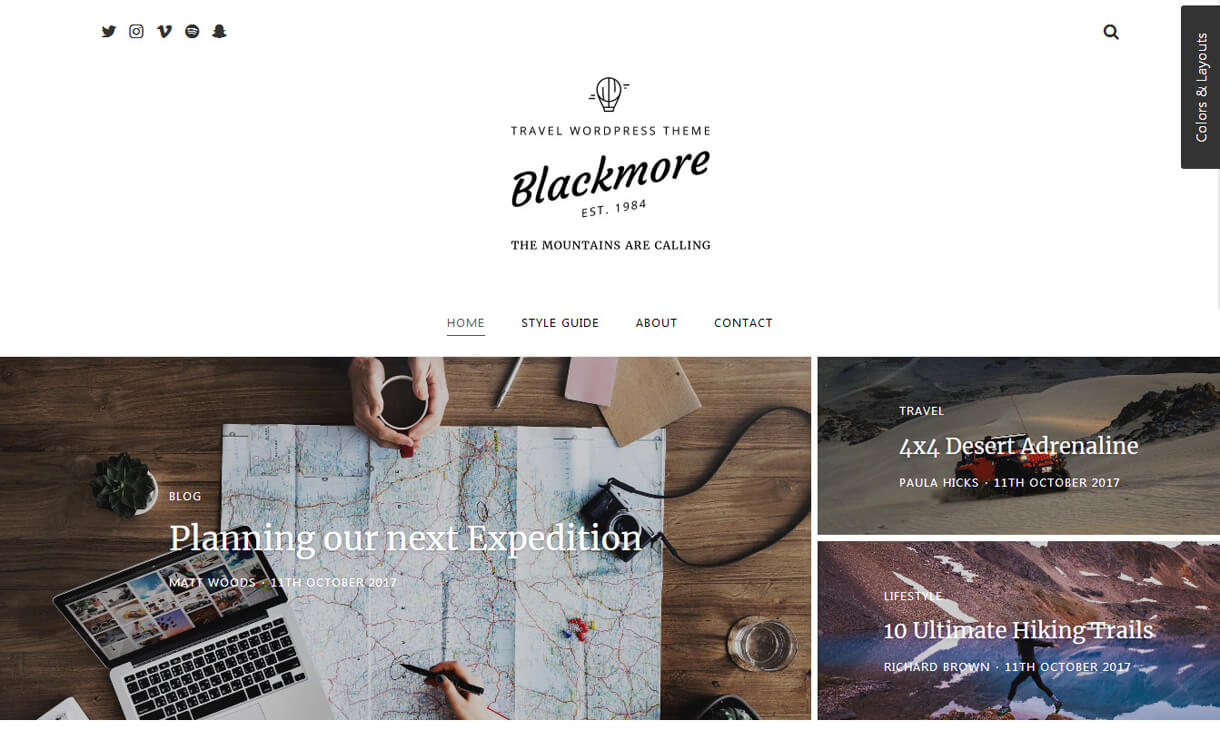 blackmore premium wordpress blog theme - 30+ Best Premium WordPress Blog Themes 2019