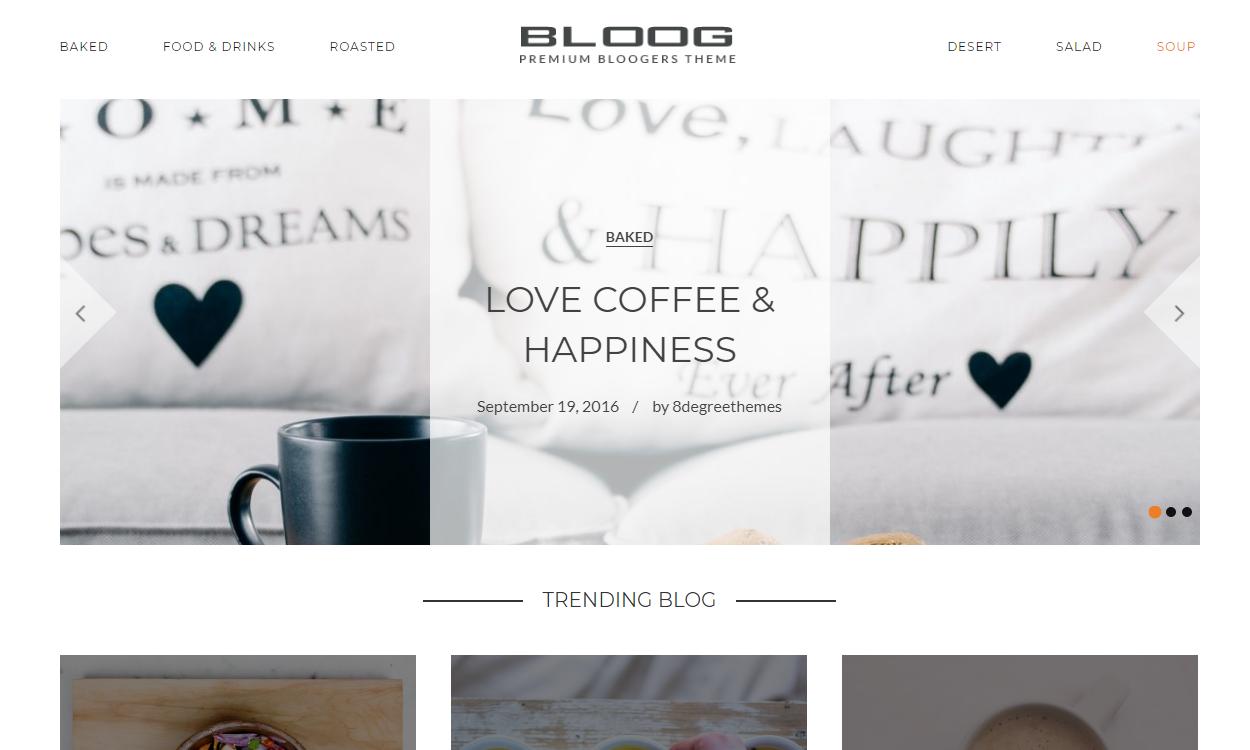bloog pro - 30+ Best Premium WordPress Blog Themes 2019