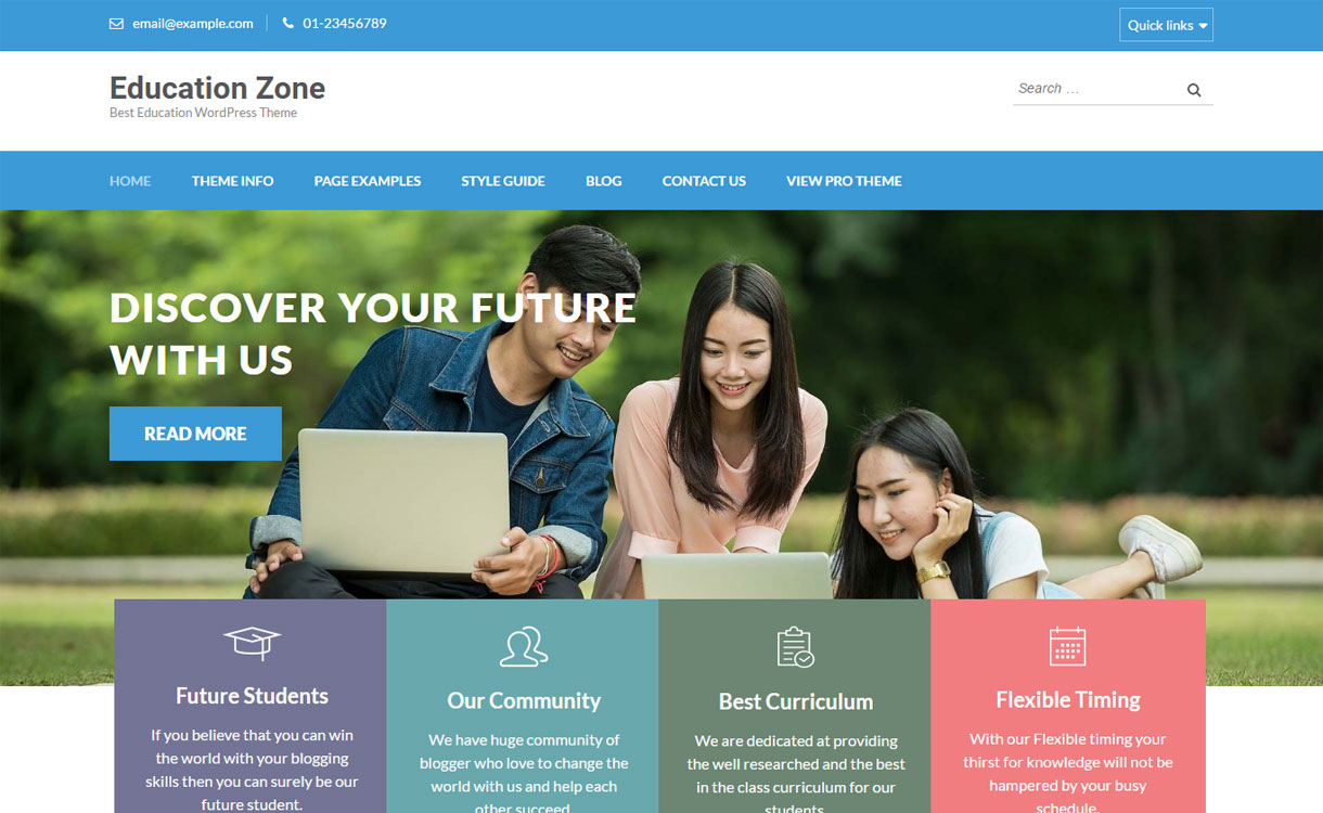 Education Zone - Professional Education WordPress Theme