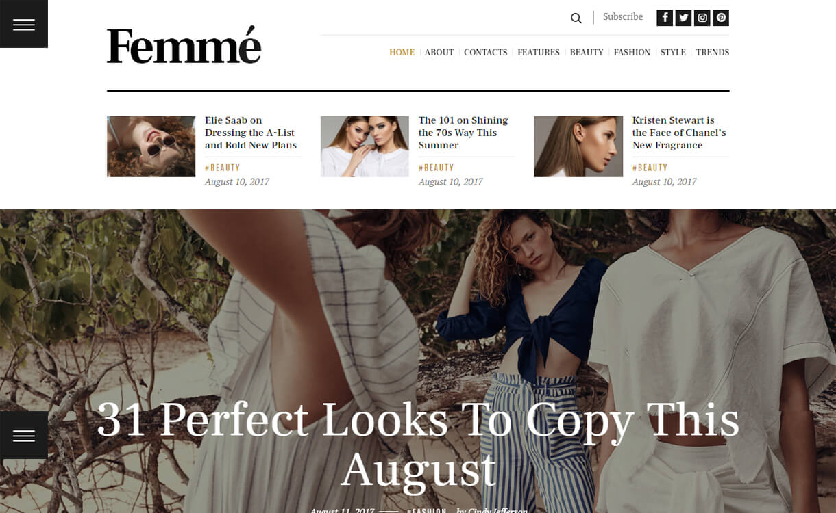 femme premium wordpress blo - 30+ Best Premium WordPress Blog Themes 2019