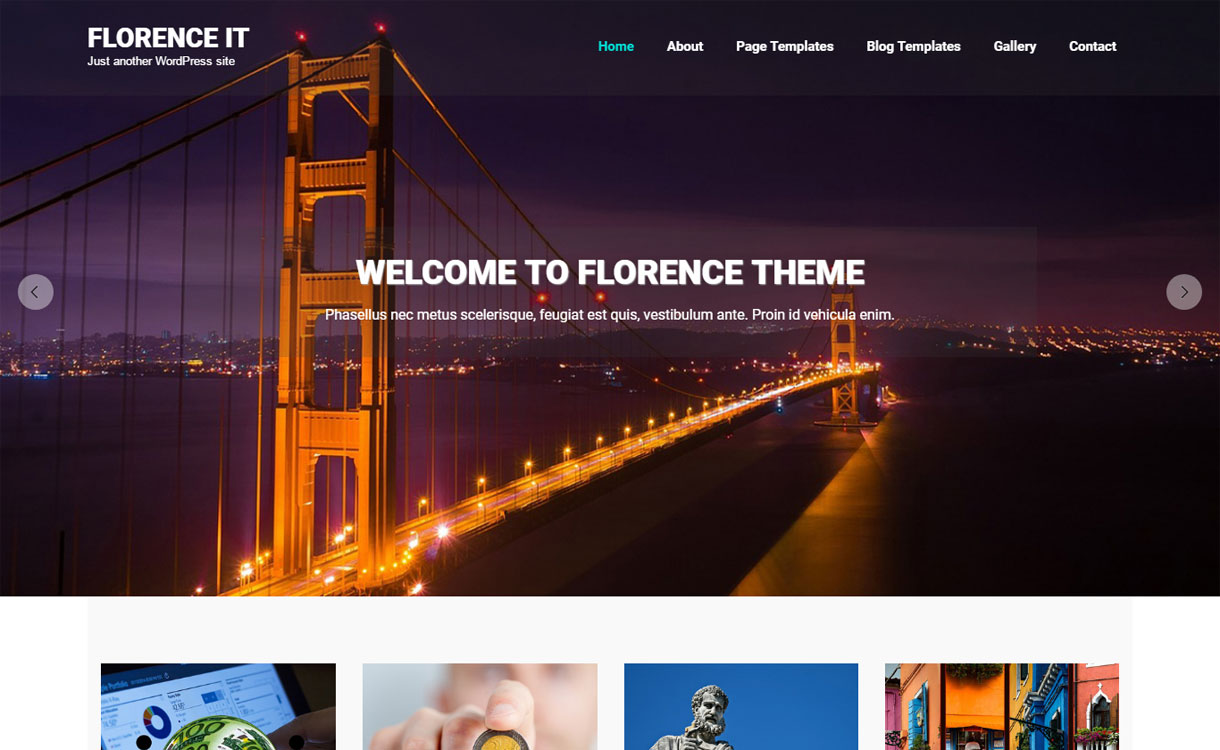 Florence It - Free Responsive WordPress Theme