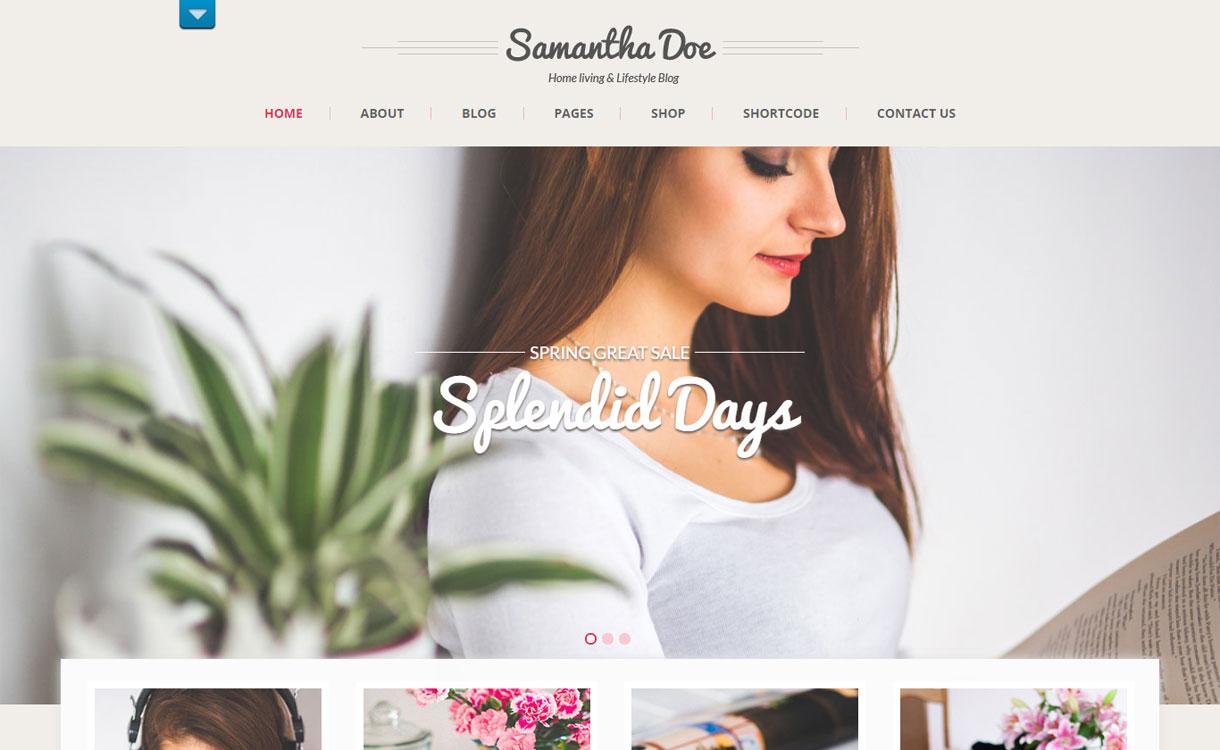 Girlie Lite - Free Girly WordPress Theme