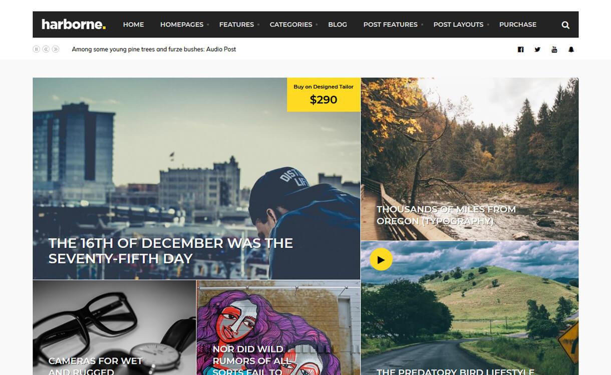 harborne premium wordpress blog theme - 30+ Best Premium WordPress Blog Themes 2019