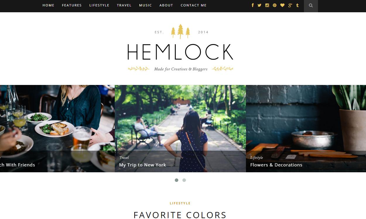 hemlock - 30+ Best Premium WordPress Blog Themes 2019
