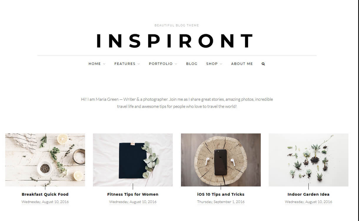 inspiront premium wordpress blog theme - 30+ Best Premium WordPress Blog Themes 2019