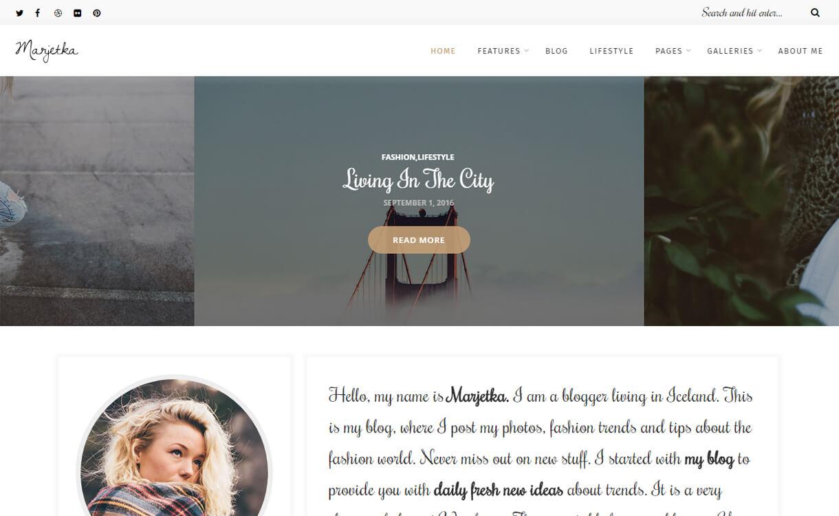 marjetka premium wordpress  - 30+ Best Premium WordPress Blog Themes 2020