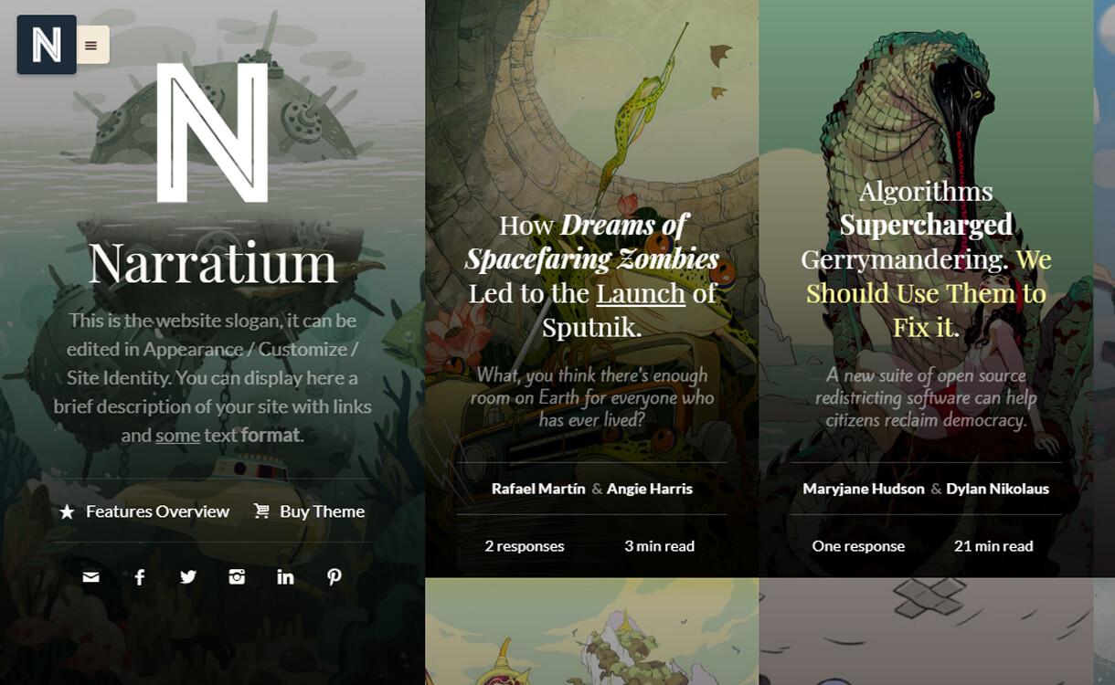 narratium wordpress blog th - 30+ Best Premium WordPress Blog Themes 2019