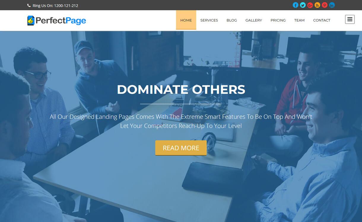 perfectpage free wordpress landing page theme - 30+ Best Free WordPress Landing Page Themes and Templates 2019
