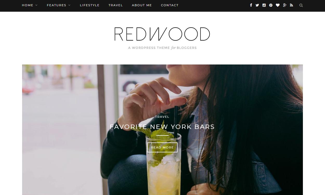 redwood - 30+ Best Premium WordPress Blog Themes 2019