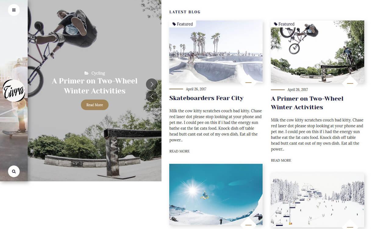tivra premium wordpress blog theme - 30+ Best Premium WordPress Blog Themes 2020