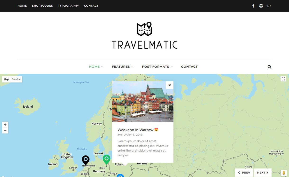 travelmatic premium wordpress blog theme - 30+ Best Premium WordPress Blog Themes 2019