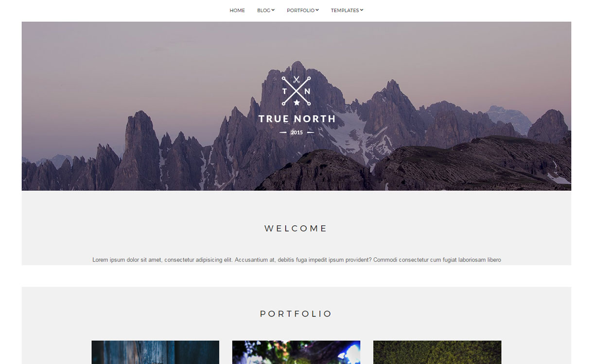 True North - Free Portfolio WordPress Theme