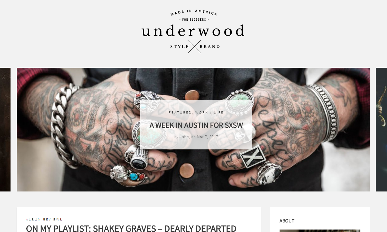 Underwood - Best Premium WordPress Blog Themes