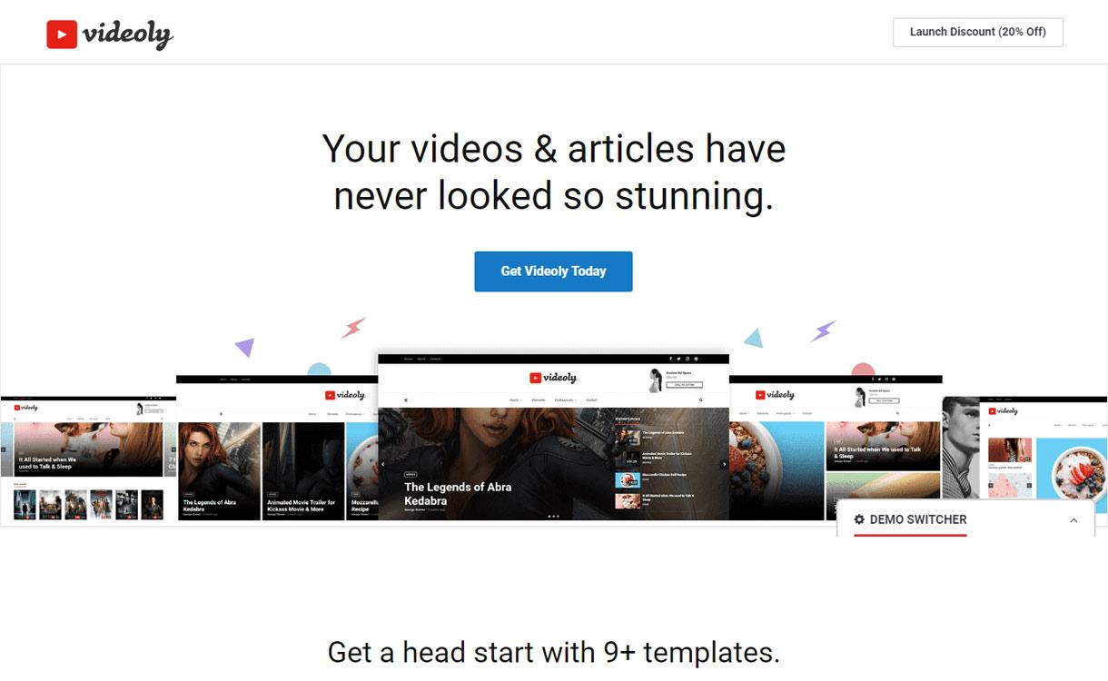 Videoly - Best Video WordPress Theme