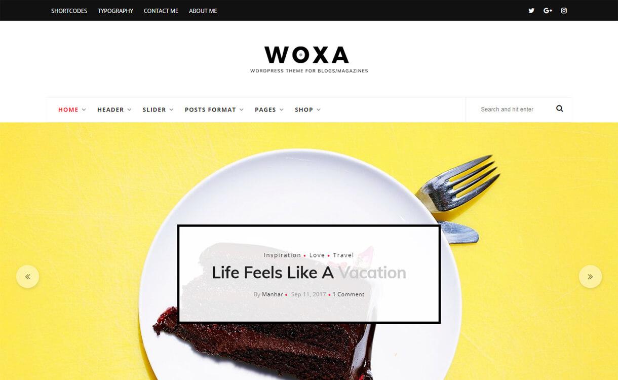 woxa premium wordpress blog - 30+ Best Premium WordPress Blog Themes 2019