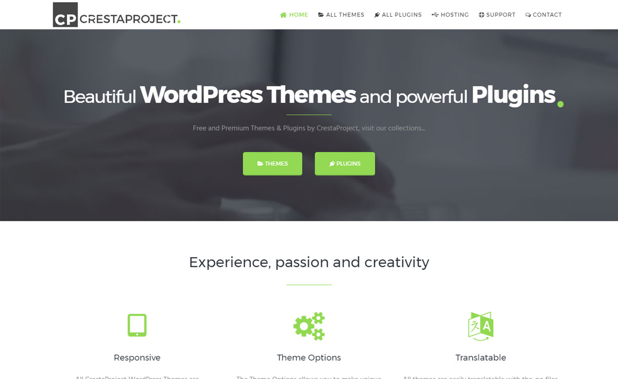 CrestaProject - Modern WordPress Theme Store