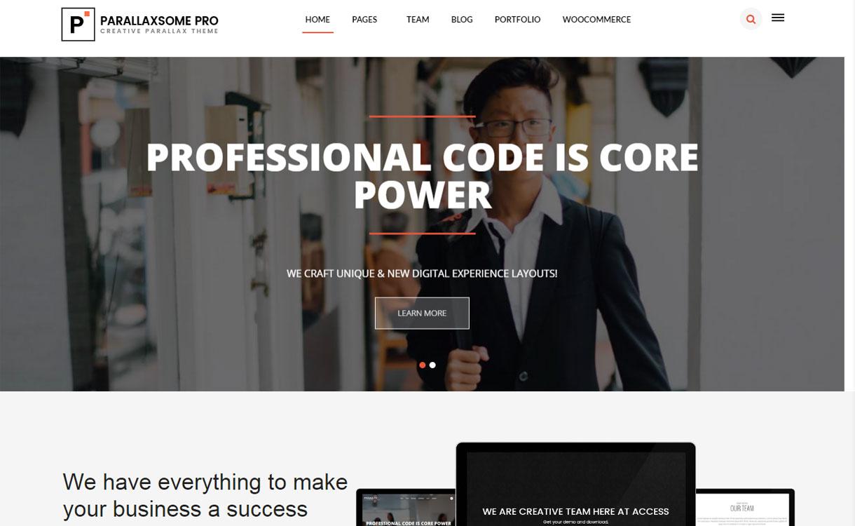 ParallaxSome Pro -Multipurpose Business WordPress Theme