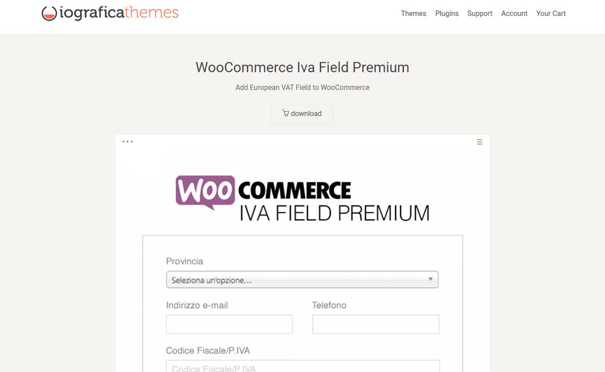 WooCommerce Iva Field Premium - WooCommerce Plugin