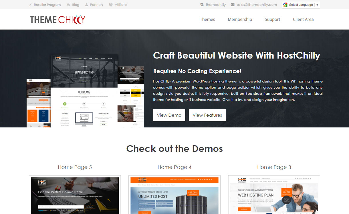 Hostchilly - Premium Web Hosting Theme