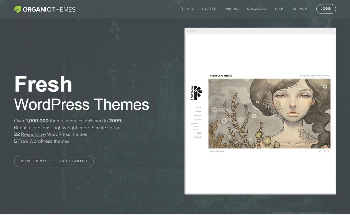 Organic Themes - Beautiful WordPress Theme Store