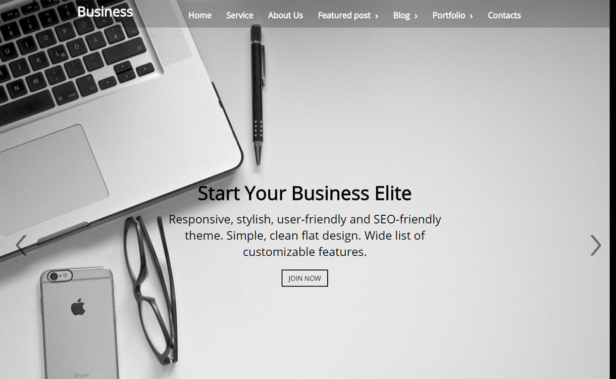 Business Elite - Premium OnePage WordPress Theme