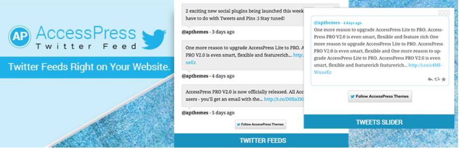 AccessPress Twitter Feed - Top 5 Free Twitter Feed WordPress Plugins