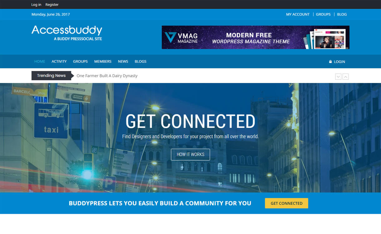 AccessBuddy - Free BuddyPress WordPress Theme