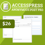 AccessPress Anonymous Post Pro - Frontend Submission Plugin