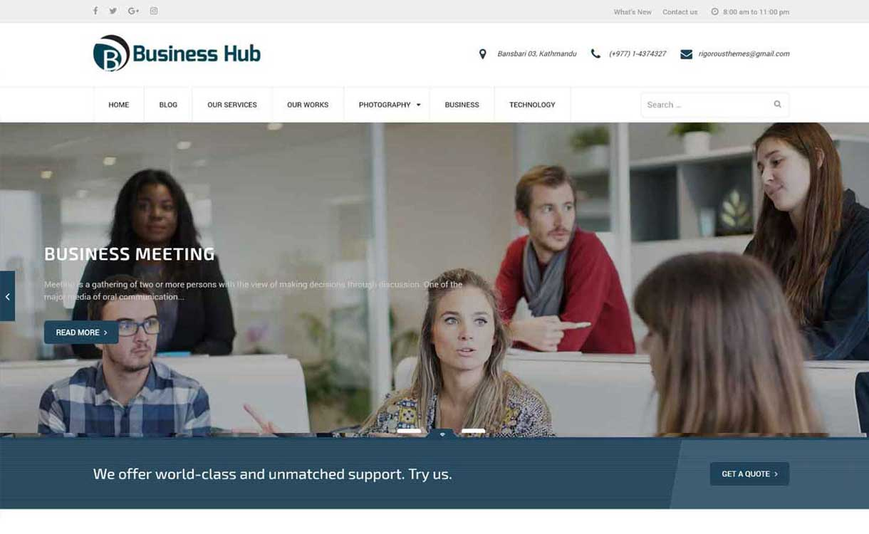 Business Theme - Free Corporate WordPress Theme