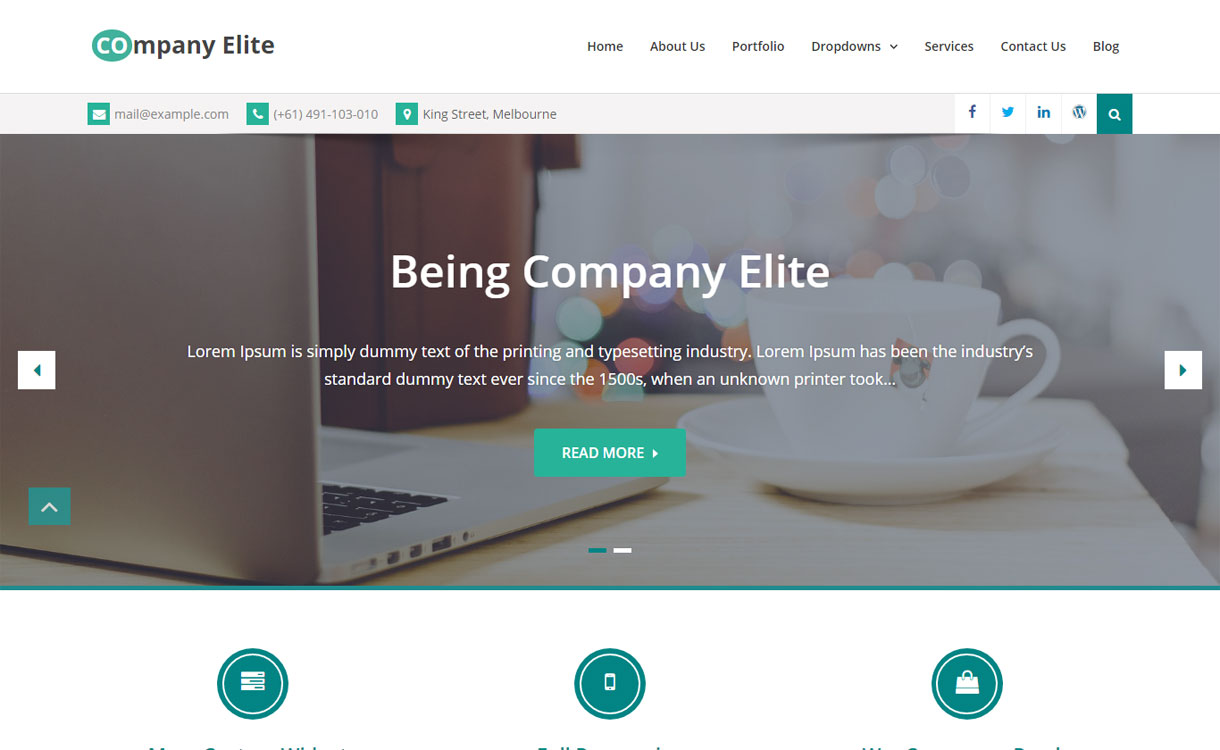 Company Elite - Free Business WordPress Theme