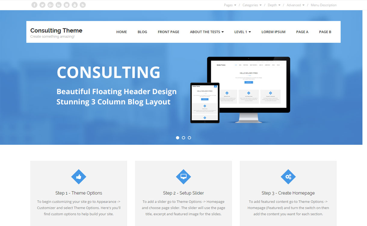Consulting - Free Multipurpose WordPress Theme