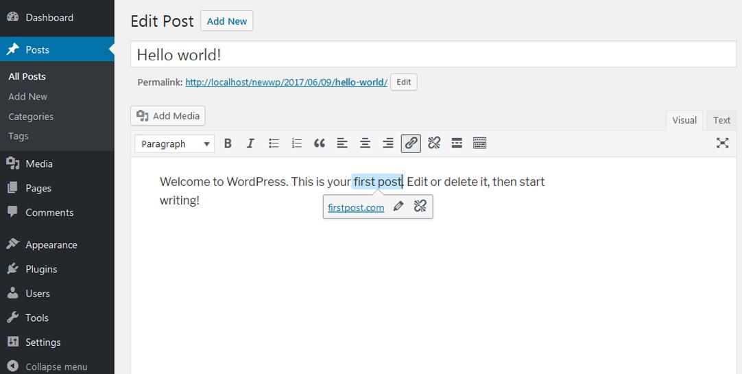 WordPress 4.8 Features - Link Boundaries