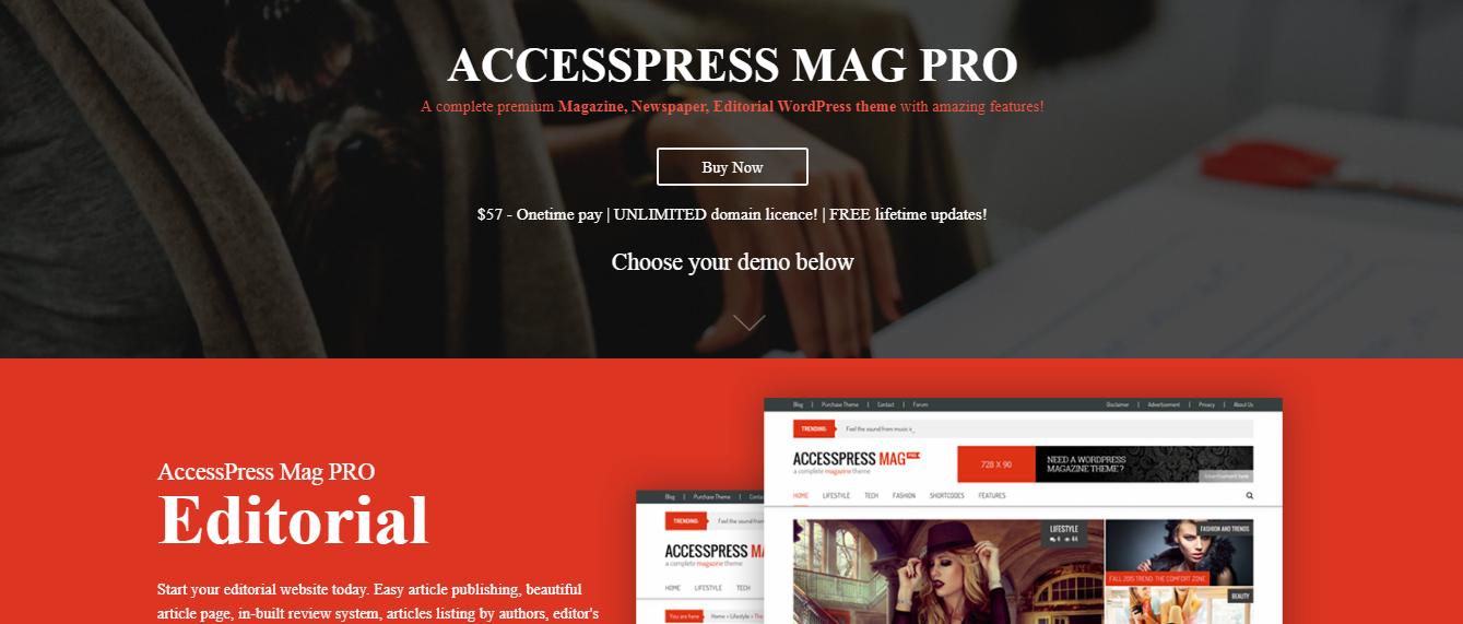 AccessPress Mag Pro - Best Premium WordPress Blog Theme