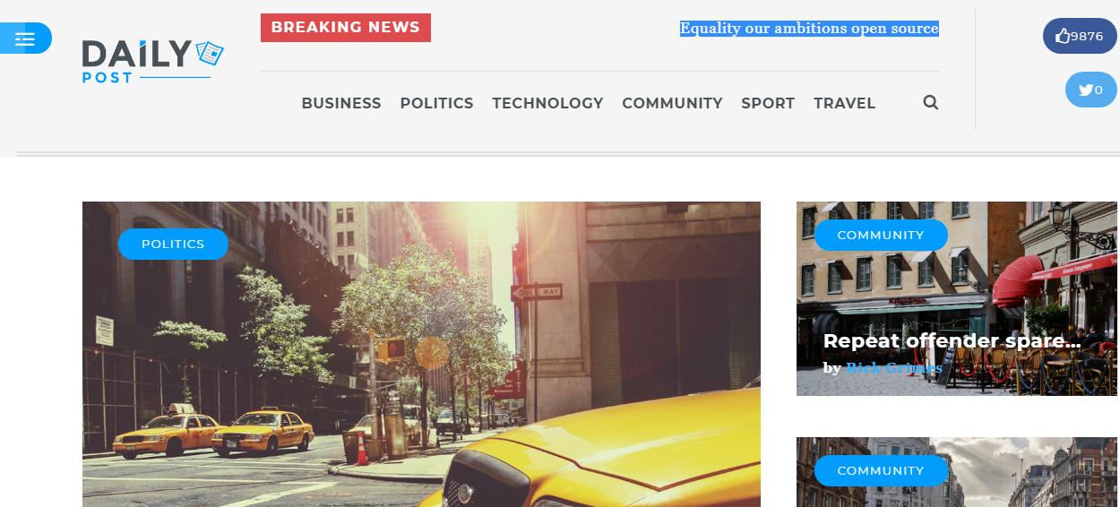 dailypost - 21+ Best Premium WordPress News/Magazine/Editorial Themes 2019