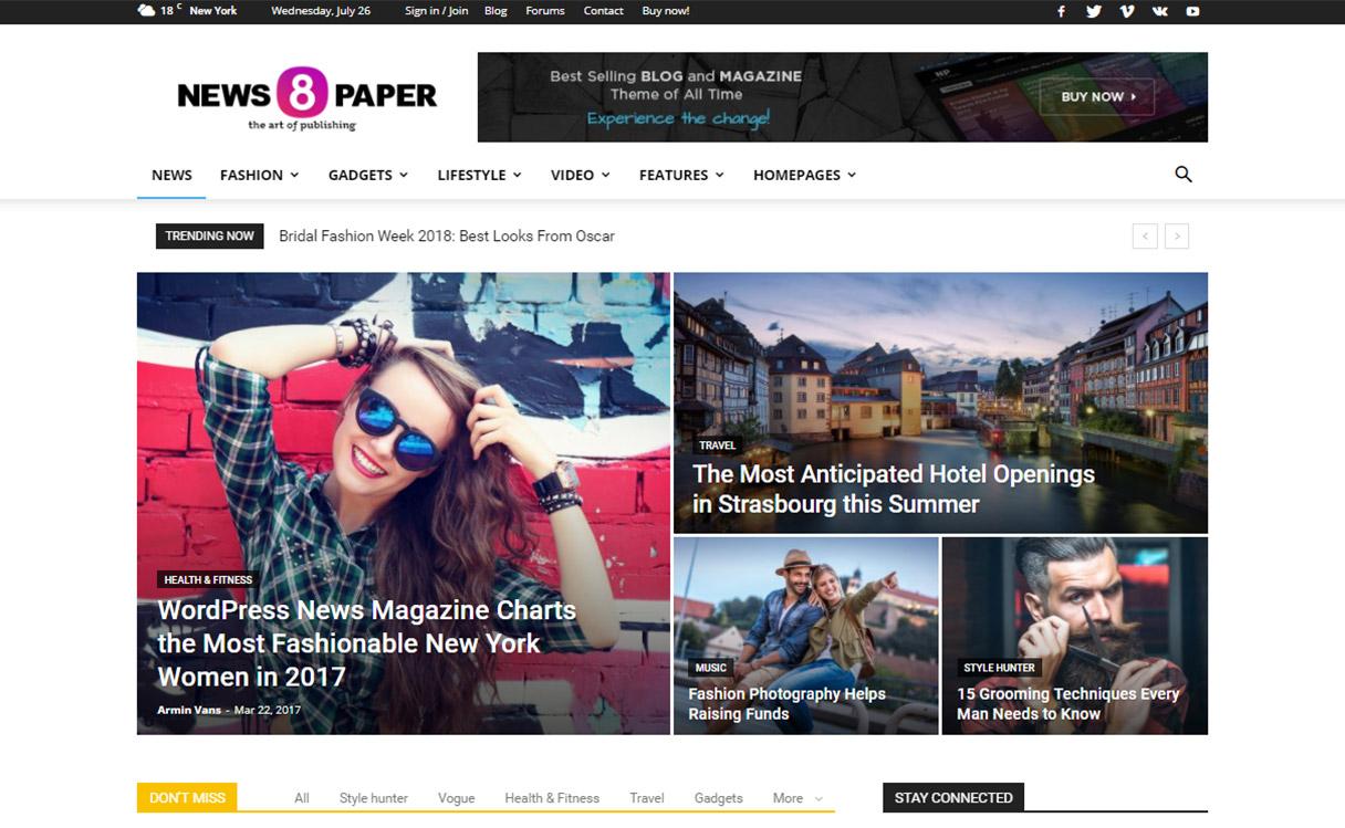 newpaper wordpress new magazine theme - 21+ Best Premium WordPress News/Magazine/Editorial Themes 2019