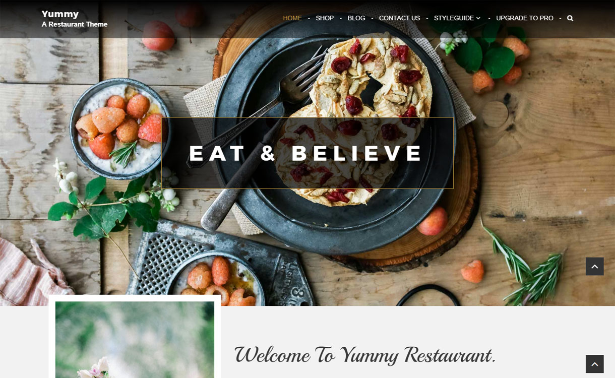 Yummy - Free Restaurant WordPress Theme